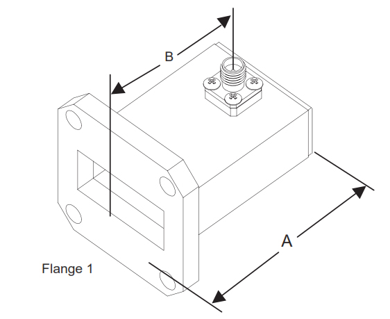 Waveguide t oCoaxial Adapter TransitionOutline Drawing