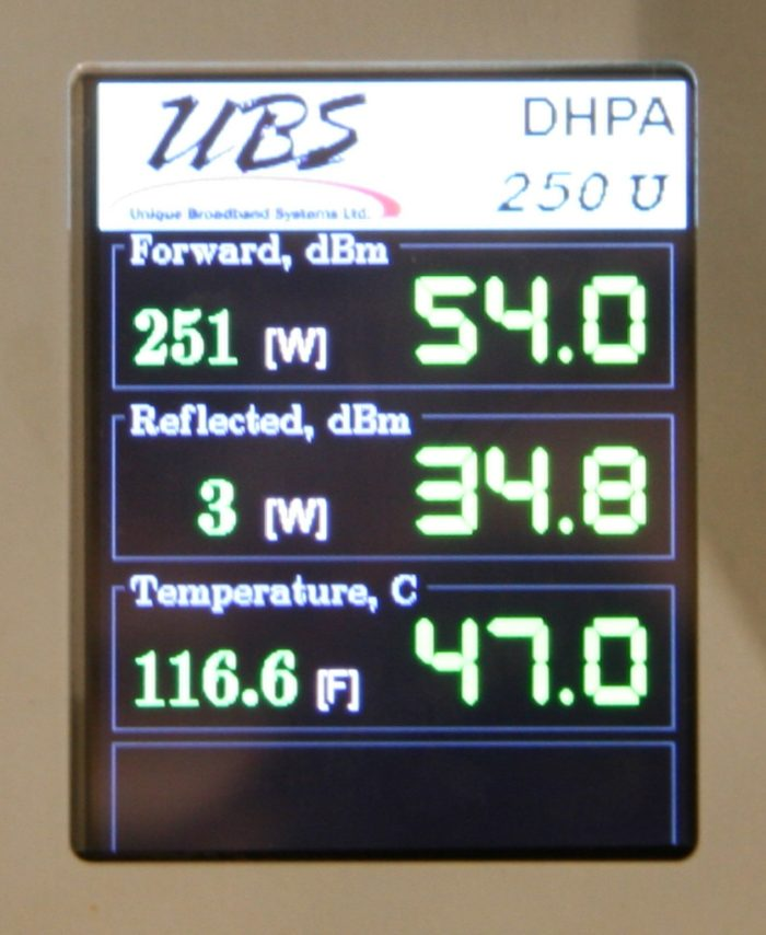 UHF-Band High Power Amplifier 250W DHPA-250UX Default LCD