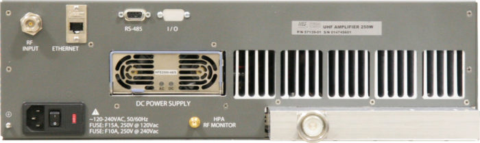 UHF-Band High Power Amplifier 250W DHPA-250UX Rear Panel-new