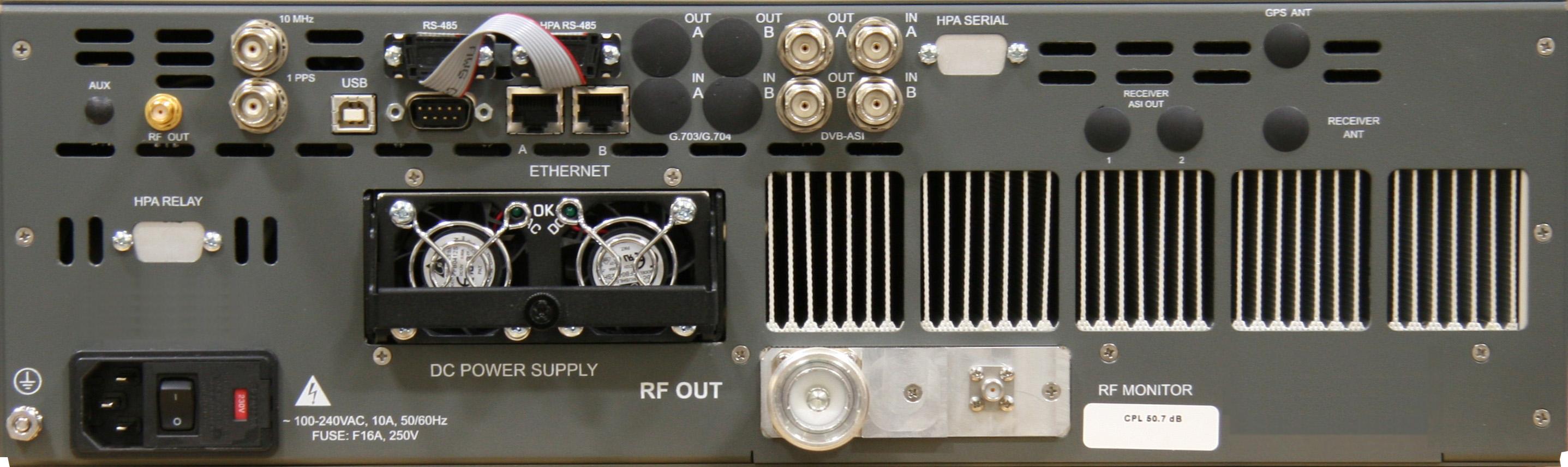 Uhf Transmitter Repeater 120 Watt Unique Broadband Systems Preamplifier 120w Rear Panel